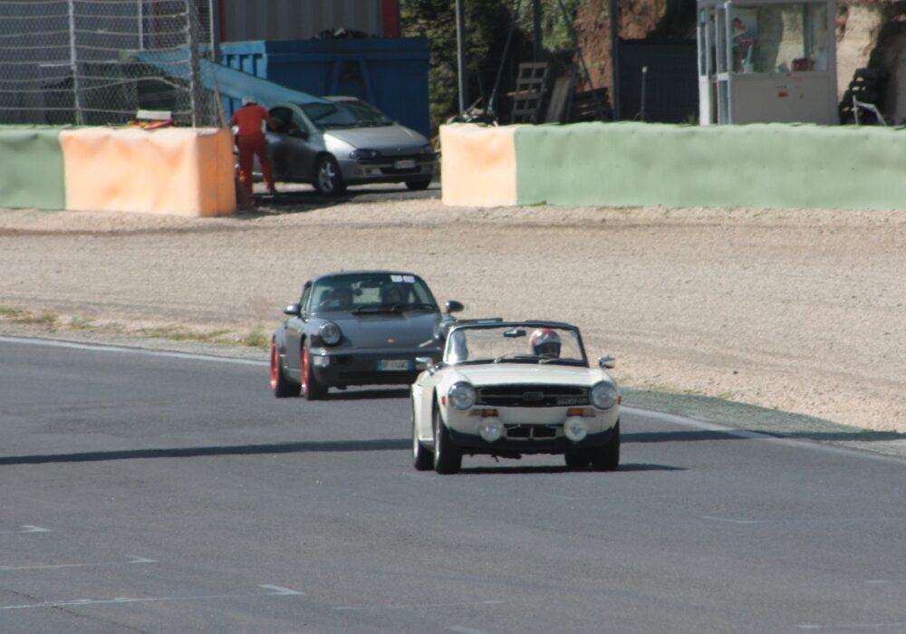 la TR6 di Roberto a Vallelunga