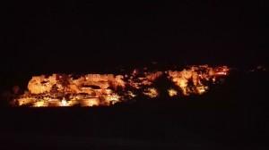 La stupenda Pitigliano di notte