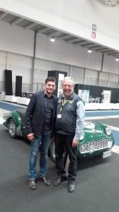 Roberto con il grande Giancarlo Fisichella