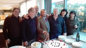 Carlo, Roberto, Giulio; Massimo; Pierluigi, Claire,e Mirella