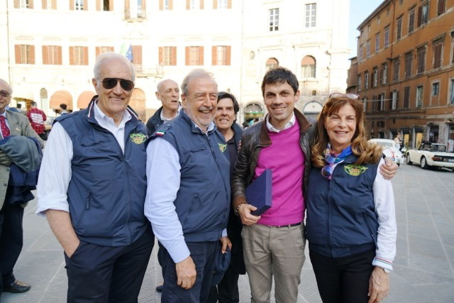 Enzo, Roberto, il Sindaco di Perugia Andrea Romizi e maddalena