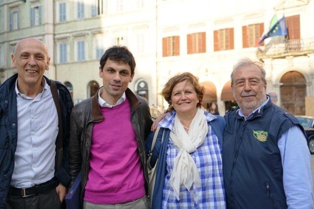 Claudio Nacca, il Sindaco di Peugia avv. Andrea Romizi, Rita Annunziata e Roberto Bargagna