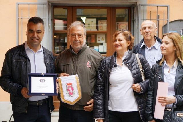 Il Sidaco di Montone geom. Mirco Rinaldi, Rita, Claudio e Roberta, Assesore al Turismo di Montone