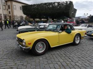 Un bravo a Fausto con la sua TR6 proveniente da Spoleto